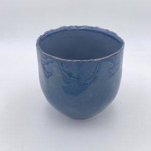 Topf tiefblau groß